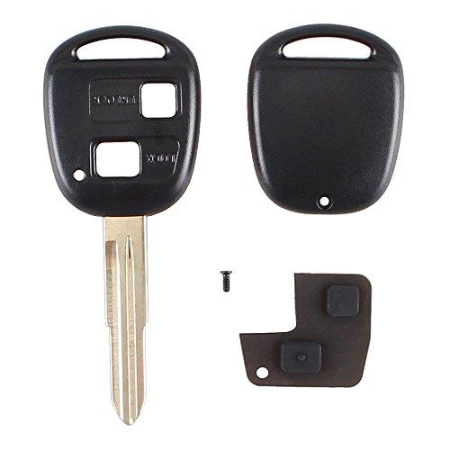 2Tasten Fernbedienung Schlüssel Shell Gummi Pad Klinge Reparatur-Set für Toyota Yaris (Corolla Teile Toyota 1996)