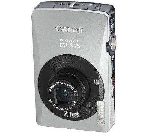 Canon IXUS 75 Digitalkamera (7 MP, 3-fach opt. Zoom, 7,6cm (3 Zoll) Display) silber/schwarz Canon Ixus 75 Digital Kamera