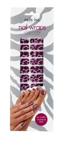 Nails Inc Pack de 24 wraps pour manucure Pink Cheetah