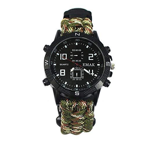 Elviray Reloj Multifuncional Supervivencia Aire Libre
