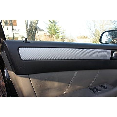 Audi A3Original 3d Carbon Moldura Juego de protectores Set, 15piezas de lámina 3d de carbono plata, para el interior de su fahrzeuges Audi