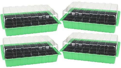 COM-FOUR® 4 invernaderos de habitación, sembradora para plantas en crecimiento, kit de cultivo en casa (04 piezas - invernaderos habitación)