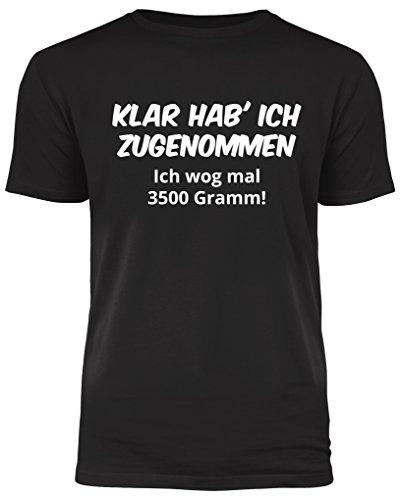 men - ich wog mal 3500 Gramm - lustiges T-Shirt - ideales Geschenk (S) ()