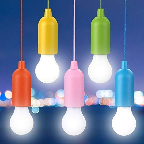 Lampadine Campeggio, Rottay LED Lampada, 5 Pezzi Handy Lux Colors 40 Lumens Lampadine per Pesca, Party,Campeggio, All'aperto o al coperto