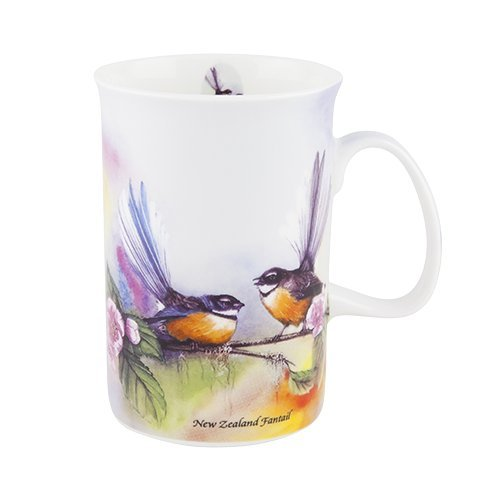 Ashdene Birds of New Zealand - Fantail - Fine Bone China Cup Mug Porzellantasse Tasse Becher tazza taza 11,5cm 320ml Gift box, by Michelle Claire, best quality, ASHDENE, Australia Bone China-box