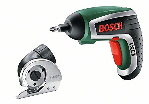 Preisvergleich Produktbild Bosch HomeSeries IXO Cutter Akkuschrauber 4. Generation, Schneideaufsatz, 10 Standard-Schrauberbits, Ladegerät