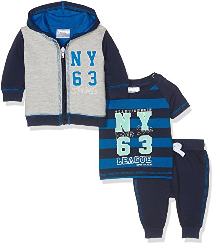 Twins Baby-Jungen Bekleidungsset 3er-Set, Blau (Marine 3011), 4-5 Monate (Herstellergröße: 62)