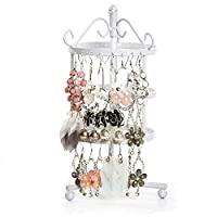 XingYue Direct Earring Organizer, Earring Stand, Earring Display Organizer, Earring Display Stand, Earring Holder, Jewelry Holder, Jewelry Earring Stand (Color : White)