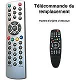Télécommande de remplace fransat CYBEST CF100 GLOBSAT GS1000 TECKOMM TCT1400 GS1001