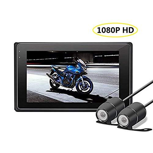 Motorrad Video Recorder mit 170 Weitwinkelobjektiv, 3 Zoll LCD-Bildschirm, WDR, Bewegungserkennung, Parkmonitor, Loop-Aufnahme, Nachtsicht und G-Sensor ()