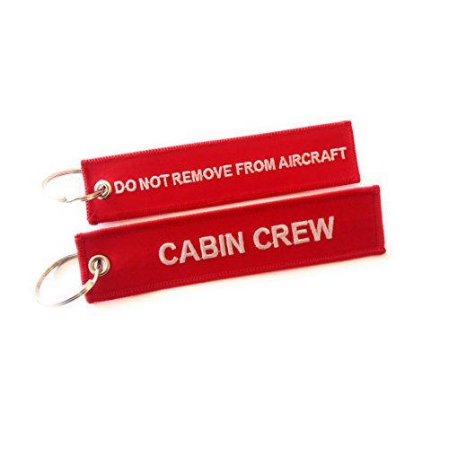 aviamart - Etiqueta para equipaje  rojo Cabin Crew / Do Not Remove From Aircraft