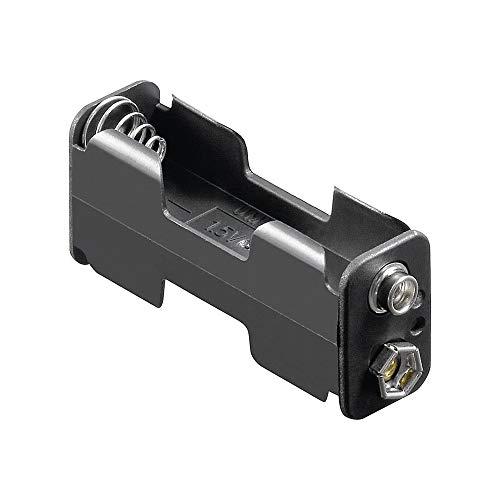 GOOBAY 2x AA (Mignon) Battery Holder, black - Push on