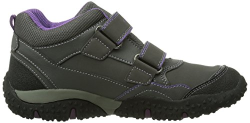 Geox J Baltic B Girl Abx, Baskets mode fille Gris (Dk Greyc9002)