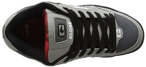 Globe Tilt, Scarpe da Skateboard Uomo Multicolore (Grey/black/red)
