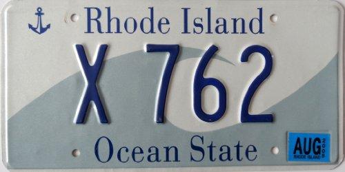 Preisvergleich Produktbild Schild RHODE ISLAND Ocean State ~ Autokennzeichen License Plate