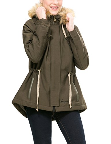 Desigual Black 4, Abrigo para Mujer, Verde (Caqui 4002), 42 (Talla del...