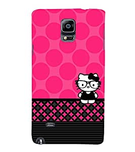 Spects Cat Pink Pattern 3D Hard Polycarbonate Designer Back Case Cover for Samsung Galaxy Note 4 N910 :: Samsung Galaxy Note 4 Duos N9100
