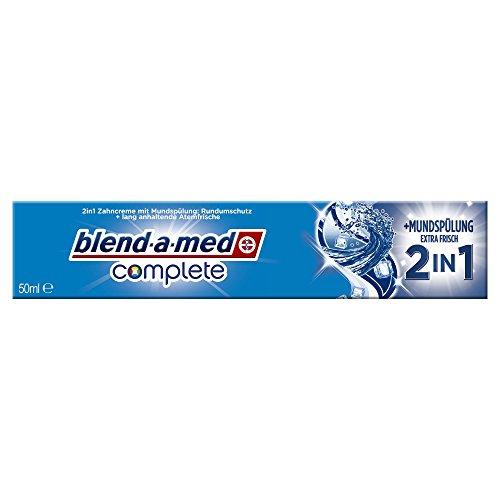 Blend-a-med Complete 2in1 plus Mundspülung Extra Frisch Zahncreme, 5er Pack (5 x 50 ml)