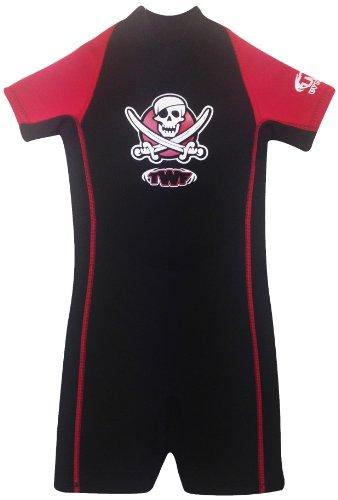 TWF Piraten-Neoprenanzug für Kinder - rot, 1-2 Jahre, K00