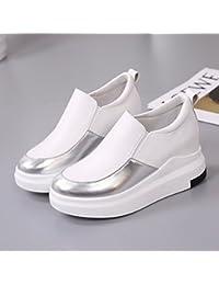 KPHY-Dentro De Aumento Pequeño Blanco Zapatos Zapatos De Mujer Cabeza Redonda Zapatos Casuales Zapatos Blanco...