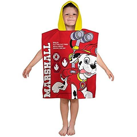 Paw Patrol bambini Asciugamano poncho con cappuccio - rosso -