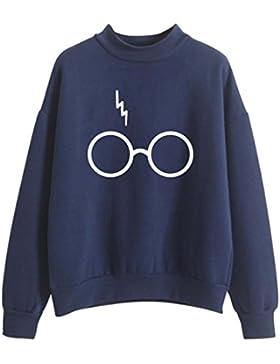 SIMYJOY Mujere Harry Potter Fans Sudaderas Niñas Cool Casual Linda Jersey Loose Fitting Top