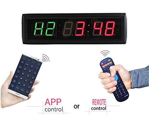 GANXIN 1 Inch 6 Digit LED Fitness Clock Custom 7 Segment LED Display for Tabata FGB Mode and Stopwatch Size:34.5 cm*10 cm*4 cm