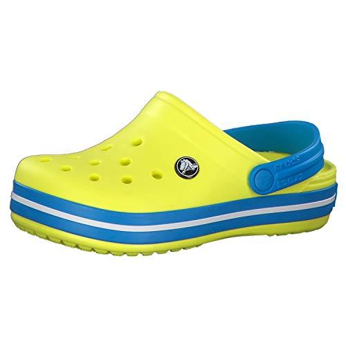 crocs Unisex-Kinder Crocband K Clogs, Gelb (Tennis Ball Green/Ocean 73e), 25/26 EU