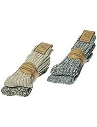 ORIGINAL WOWERAT 4 Paar superweiche Norwegersocken (Wollsocken) vorgewaschen, Premium Qualität