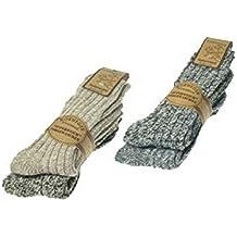 ORIGINAL WOWERAT paia di calze da 4 morbidissimo norska (woll calzini) pre-lavati, qualità Premium