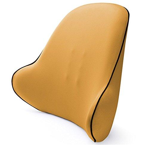 Yeying123 Lordosenstütze Premium Gesamten Hoher Rücken Kissen Büro Schreibtisch Stuhl Autositz Memory Foam Kissen Entlastet Couch Sofa Lesen Ischias Schmerzen,Yellow - Gesamt-stuhl-kissen