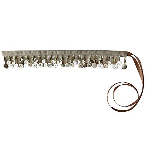 Cinturones de mujer-plumas mujer-bohemios/Cinturon cadera conchas y te