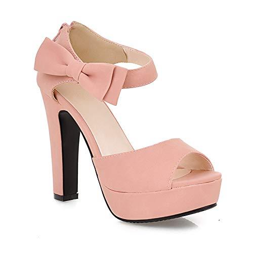 Scarpe con Cinturino alla Caviglia Donna(rosa-39)