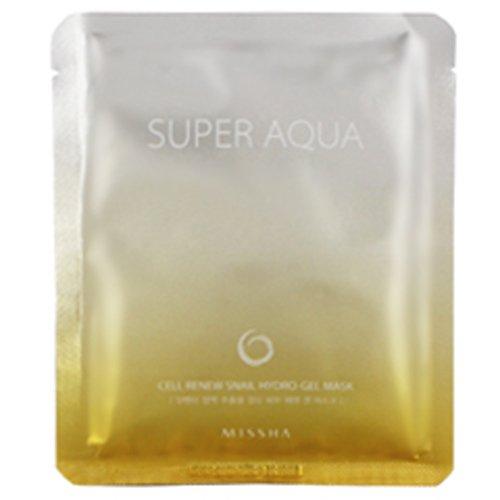 [Missha] Super Aqua Cell Renew Snail Hydro Gel Mask / 28g. [Misc.]
