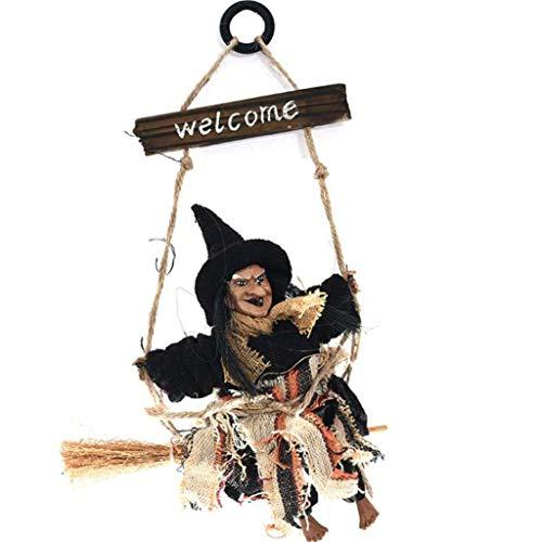 LTOOLA Halloween Anhänger Geist Festival Bar Vintage Hexe Hängende Besen Spukhaus Anordnung Requisiten KTV Dekoration,B