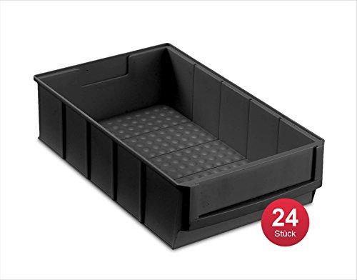 Preisvergleich Produktbild Industriebox 300 B leitfähig, 300x183x81mm, 24 St., schwarz