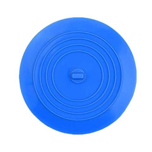 Yvelands tappo per vasca da bagno tappo di scarico spina per vasca da bagno in dilicone tappo piatto(blu)