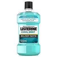 LISTERINE Mouthwash, Cool Mint, Milder Taste, 500ml