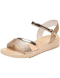 Sandalias de vestir, Ouneed ® Sandalias de mujer verano Bohemia zapatillas Flip flop plana playa