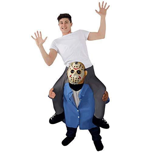 Kostüm 13th Jason Voorhees - Morph Latex Maske Serienmörder Huckeback Halloween Kostüm für Erwachsene