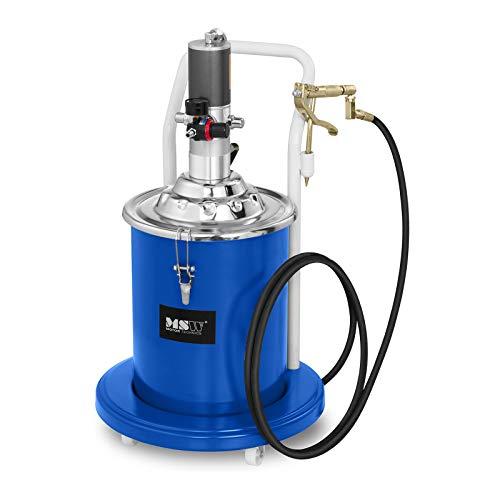 MSW Pompe À Graisse Pneumatique Professionnelle Appareil Graissage Lubrification Pro-G 20 (20 L, 300-400 Bars, Compression 50:1, Débit 0,85 l/Min)