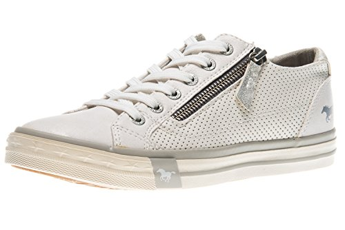 MUSTANG Damen Sneaker Smaragd Türkis Halbschuhe Canvas Slipper 1099-302-760