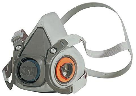 3M 6200M Half Face Mask Respirator, Reusable - Medium