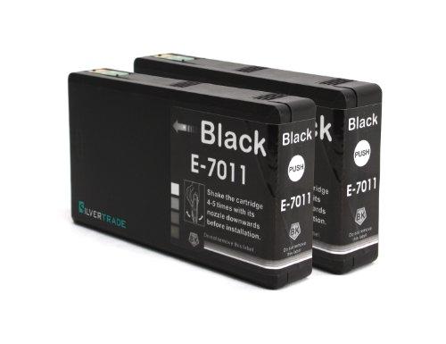 2 XXL Tintenpatronen mit Chip kompatibel zu Epson T7011 Schwarz kompatibel für Epson WorkForce PRO WP4015 WP4025 WP4095 WP4515 WP4525 WP4535 WP4545 WP4595 / WP 4015 WP 4025 WP 4095 WP 4515 WP 4525 WP 4535 WP 4545 WP 4595 (Cyan Tintenpatrone 02)