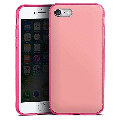 Apple iPhone 8 Silikon Hülle Case Schutzhülle Lachs helles Pink Rosa Silikon Colour Case pink