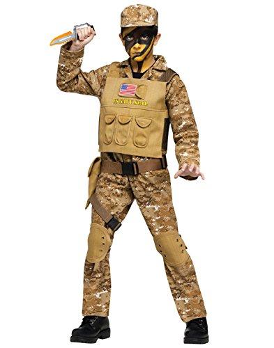 Fun World Navy Seal Boys Costume Medium - Commando Kostüm Für Jungen