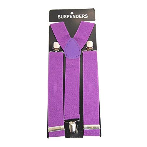 Bretelles fines élastique 2,5cm pour enfant Violet - Violet