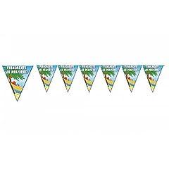 Idea Regalo - Givi Italia 54136ghirlanda di bandierine in PVC finalmente pensione, multicolore