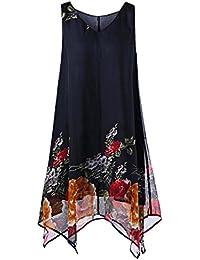 QUICKLYLY Mini Vestidos Mujer Verano 2018 Tallas Grandes Boda Elegantes para Fiesta Noche Playa