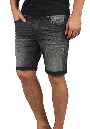 Blend Grilitsch Herren Jeans Shorts Kurze Denim Hose Mit Destroyed-Optik Aus Stretch-Material Slim Fit, Größe:L, Farbe:Denim Dark Grey (76209) Herren-skinny-leder-jeans